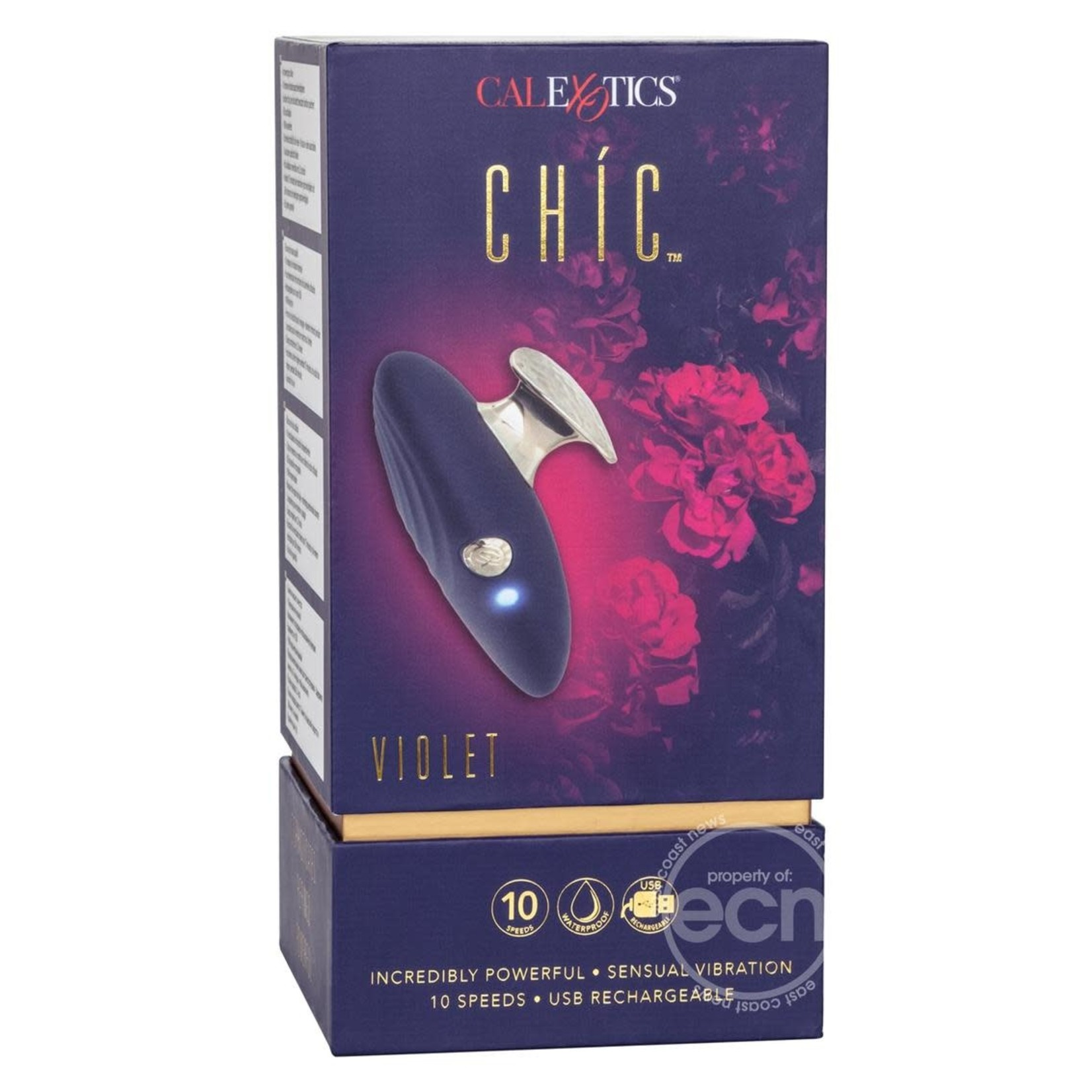 Chic Violet Silicone Rechargeable Massager - Blue