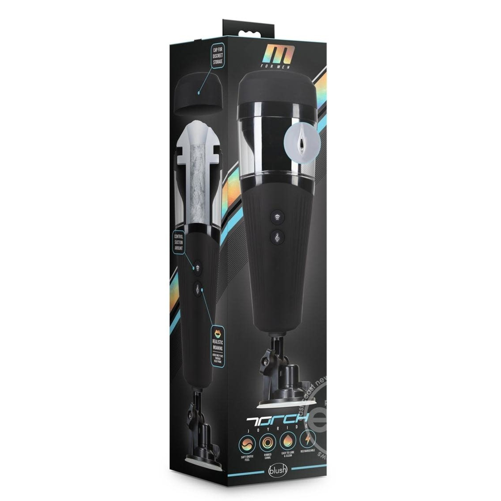 M For Men Torch Joyride Rechargeable Masturbator - Frosted
