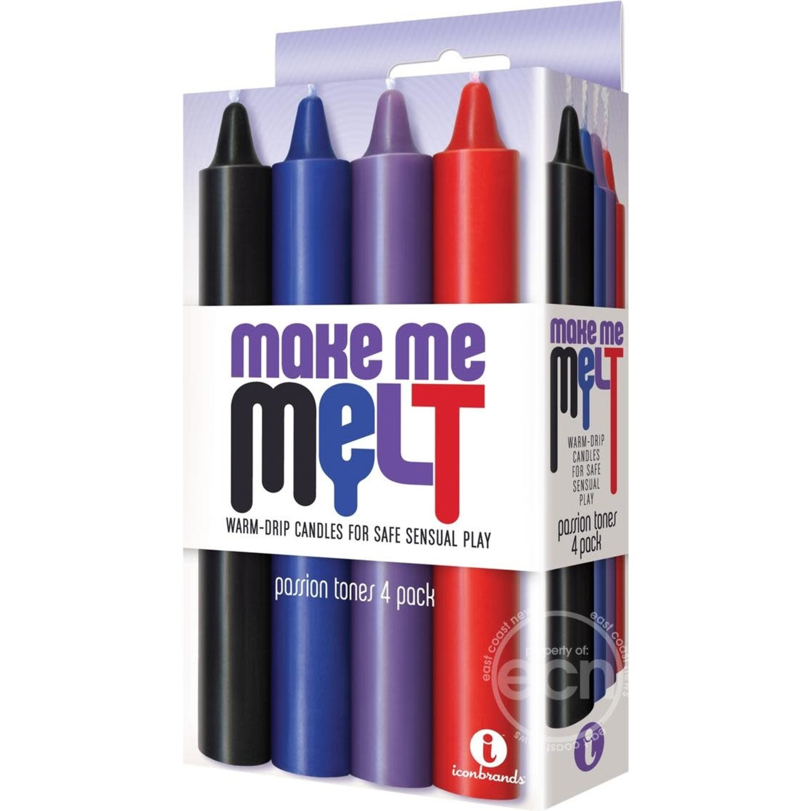The 9's - Make Me Melt Warm-Drip Candles 4 Pack - Passion Tones