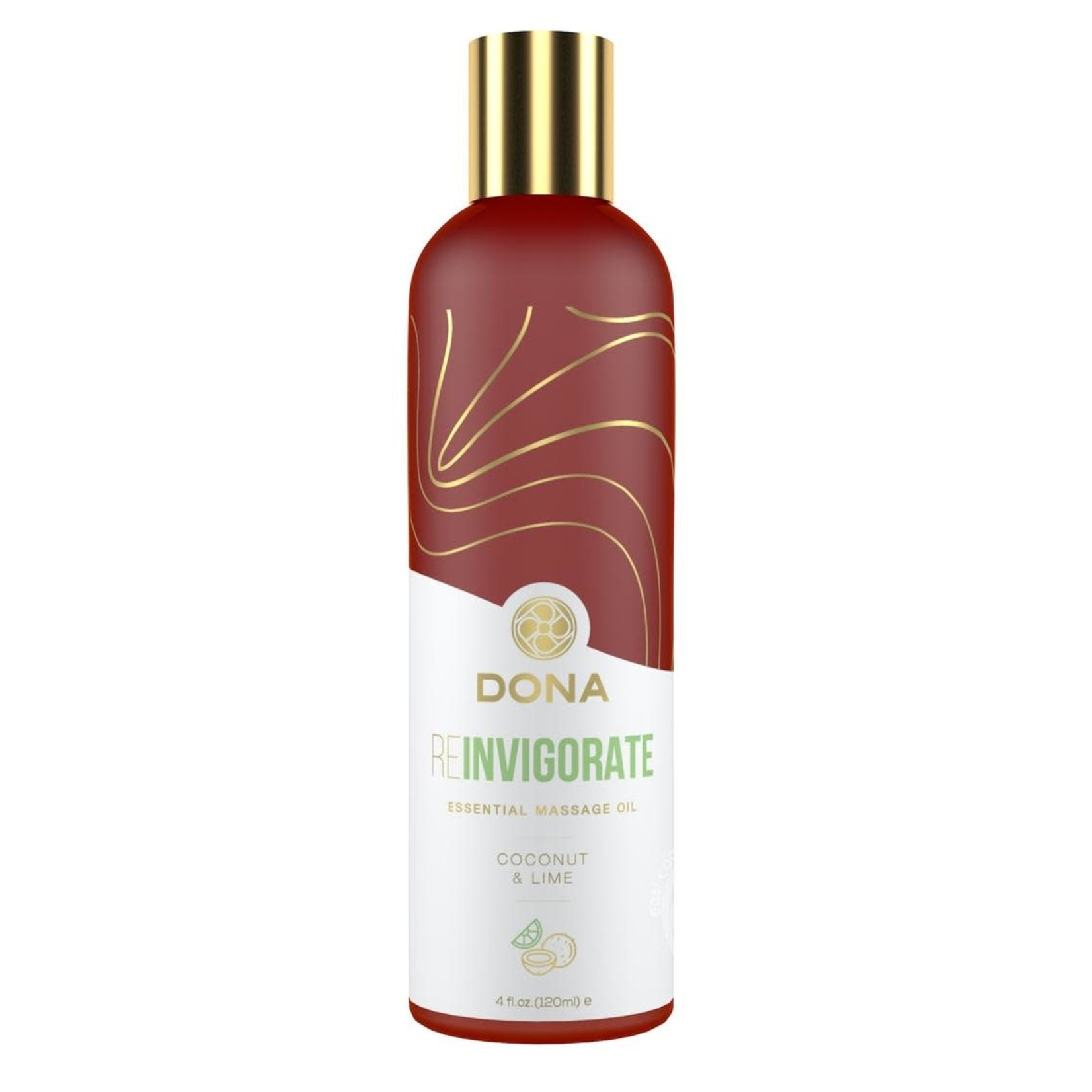 Dona Reinvigorate Vegan Massage Oil Coconut & Lime 4oz
