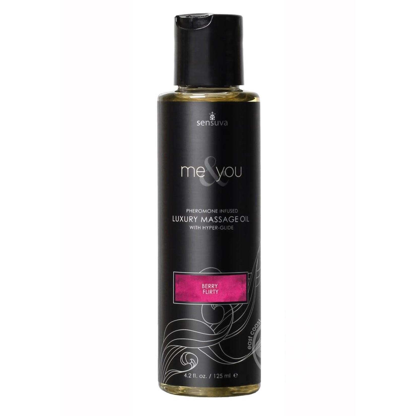 Me & You Berry Flirt Massage Oil 4.2 fl.oz. Bottle