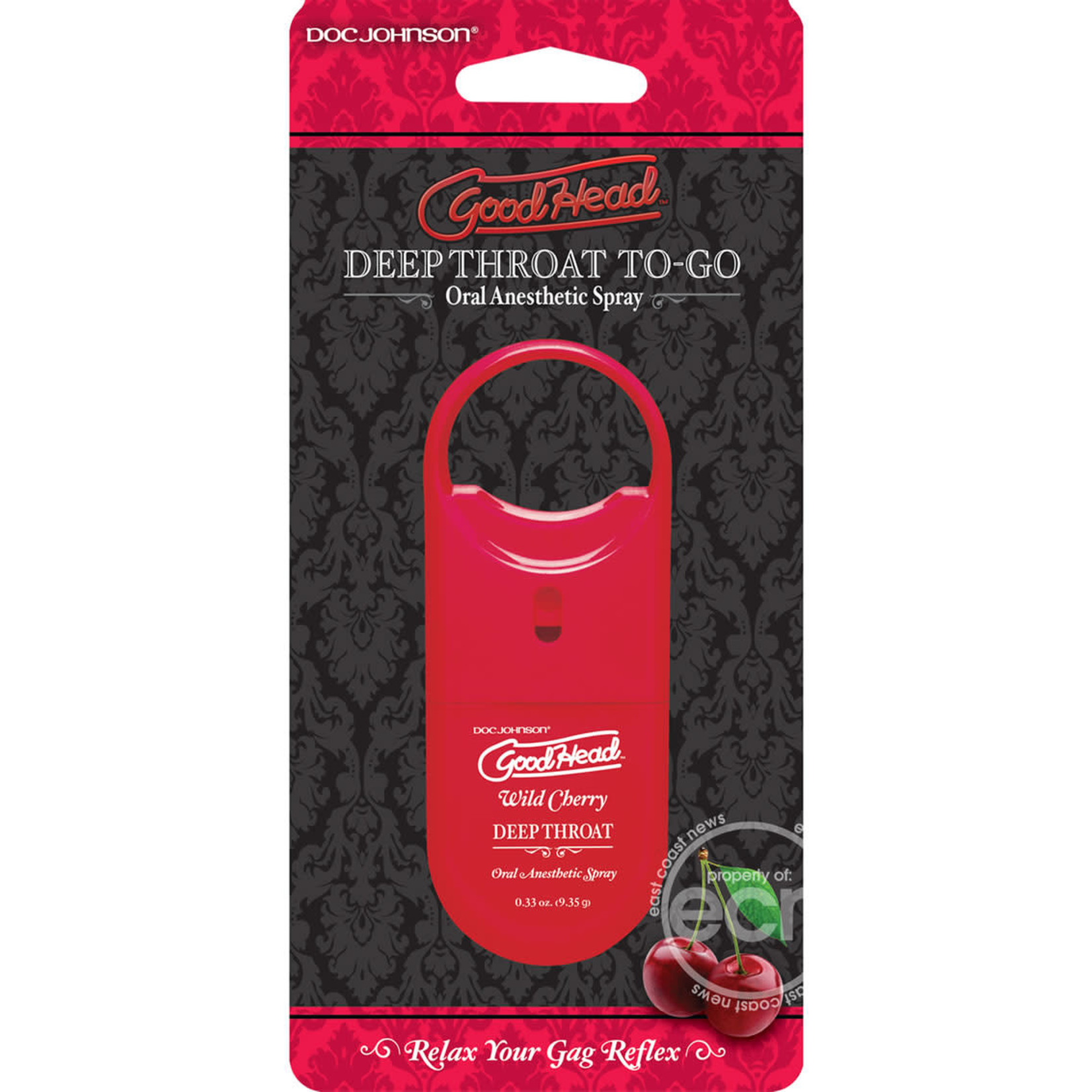 Goodhead Deep Throat To-Go Oral Anesthetic Spray Cherry .33oz