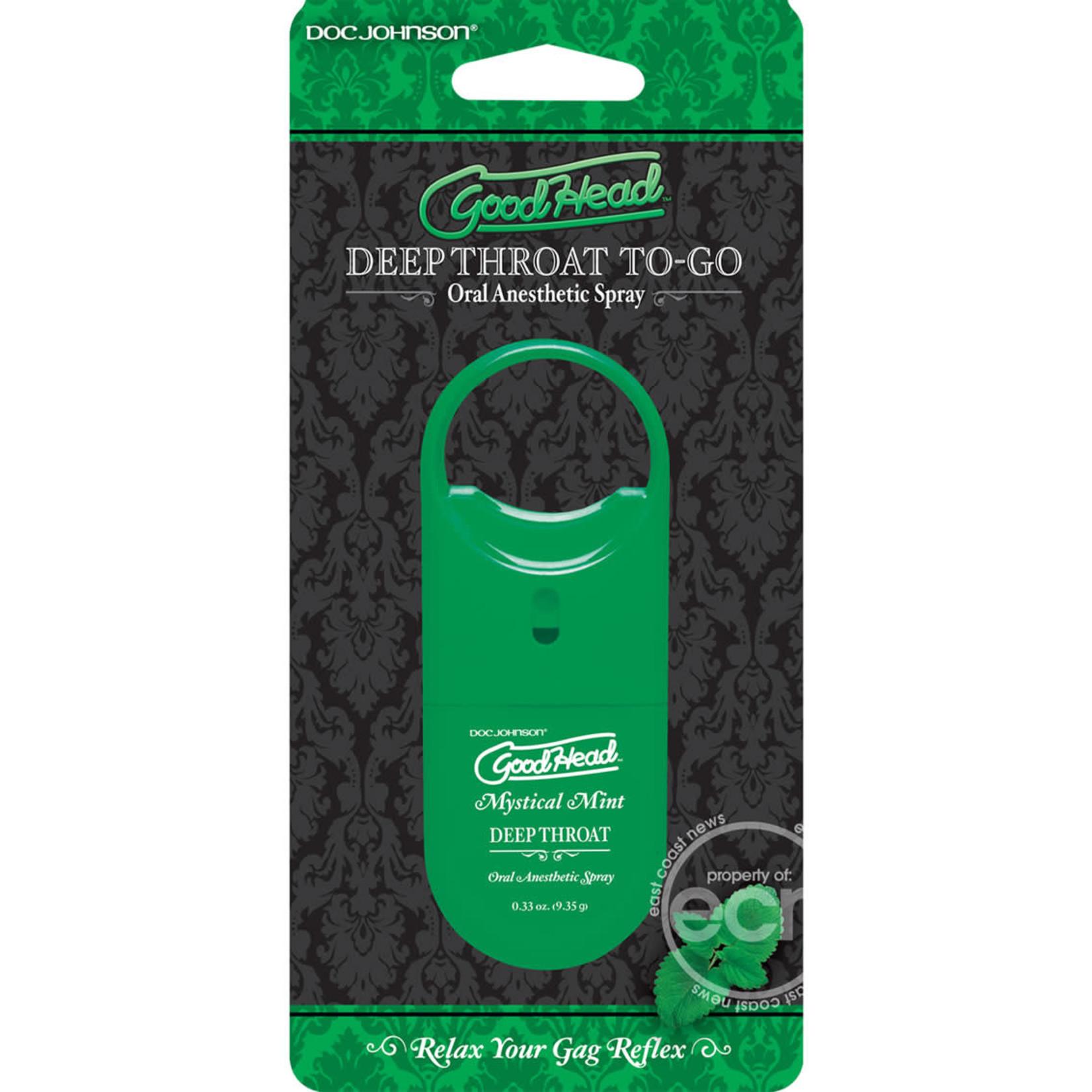 Goodhead Deep Throat To-Go Oral Anesthetic Spray Mint .33oz