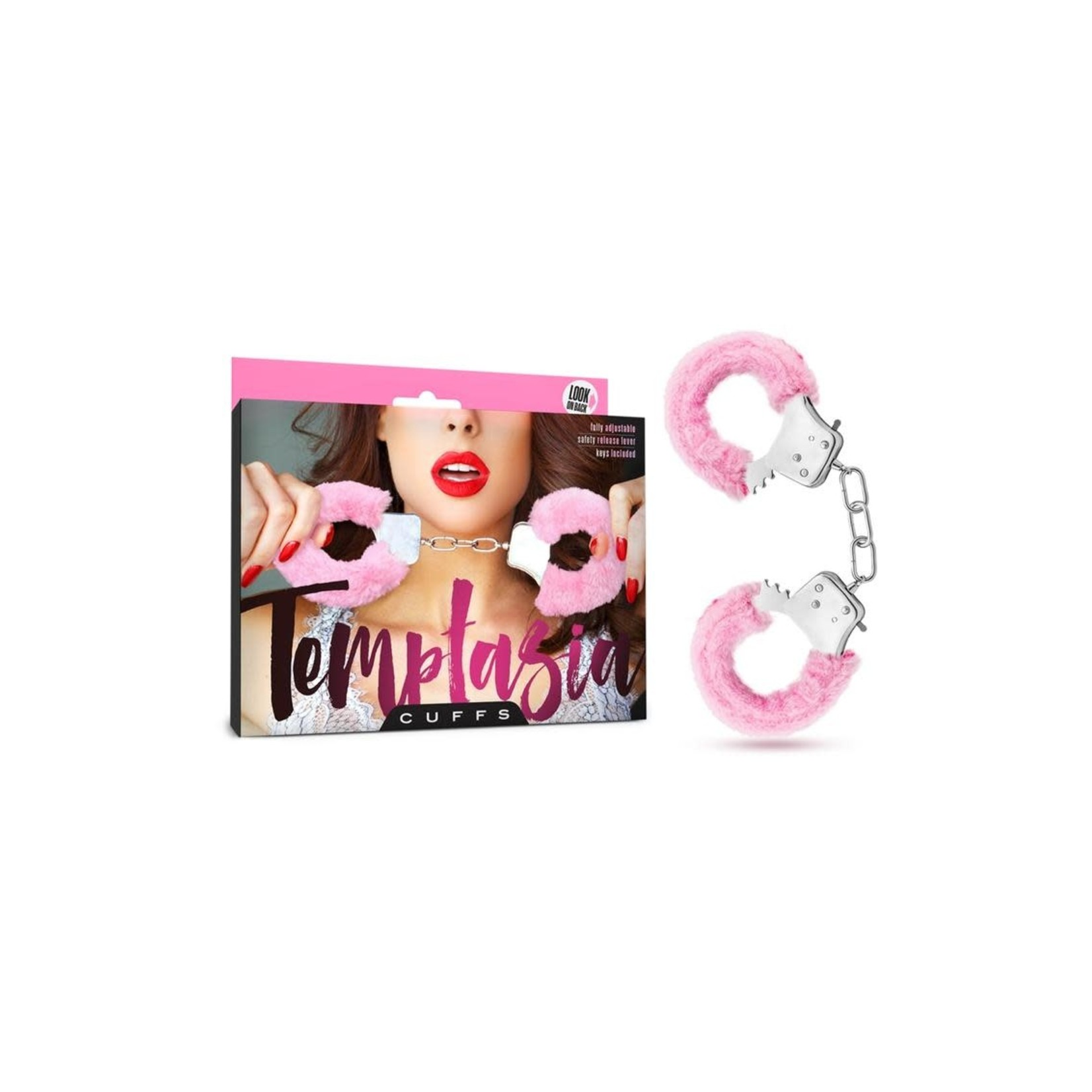 Temptasia Faux Fur Cuffs - Pink