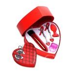 Frisky Passion Heart Kit 4pc - Red/Black