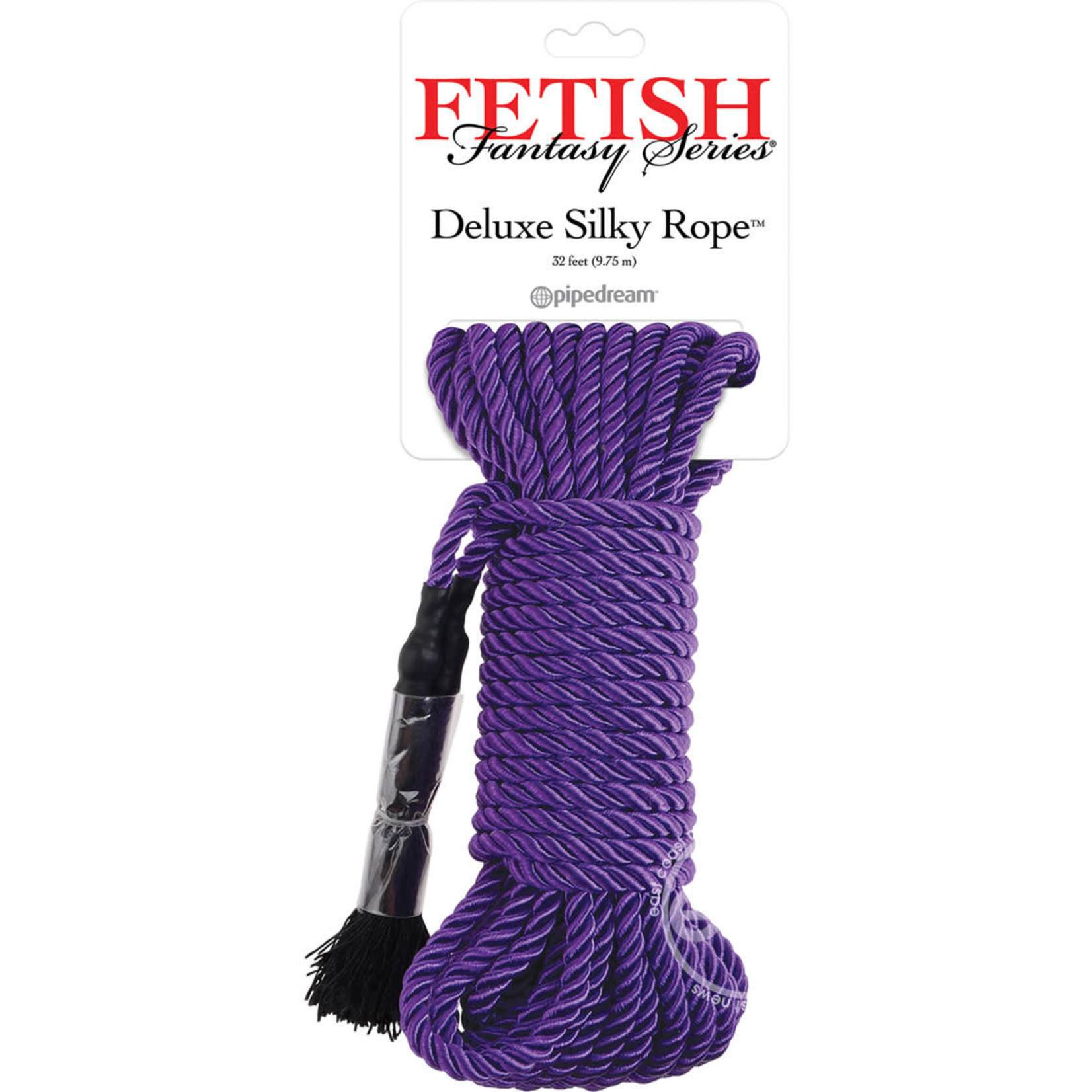 Festish Fantasy Series Deluxe Silk Rope Purple 32 Feet