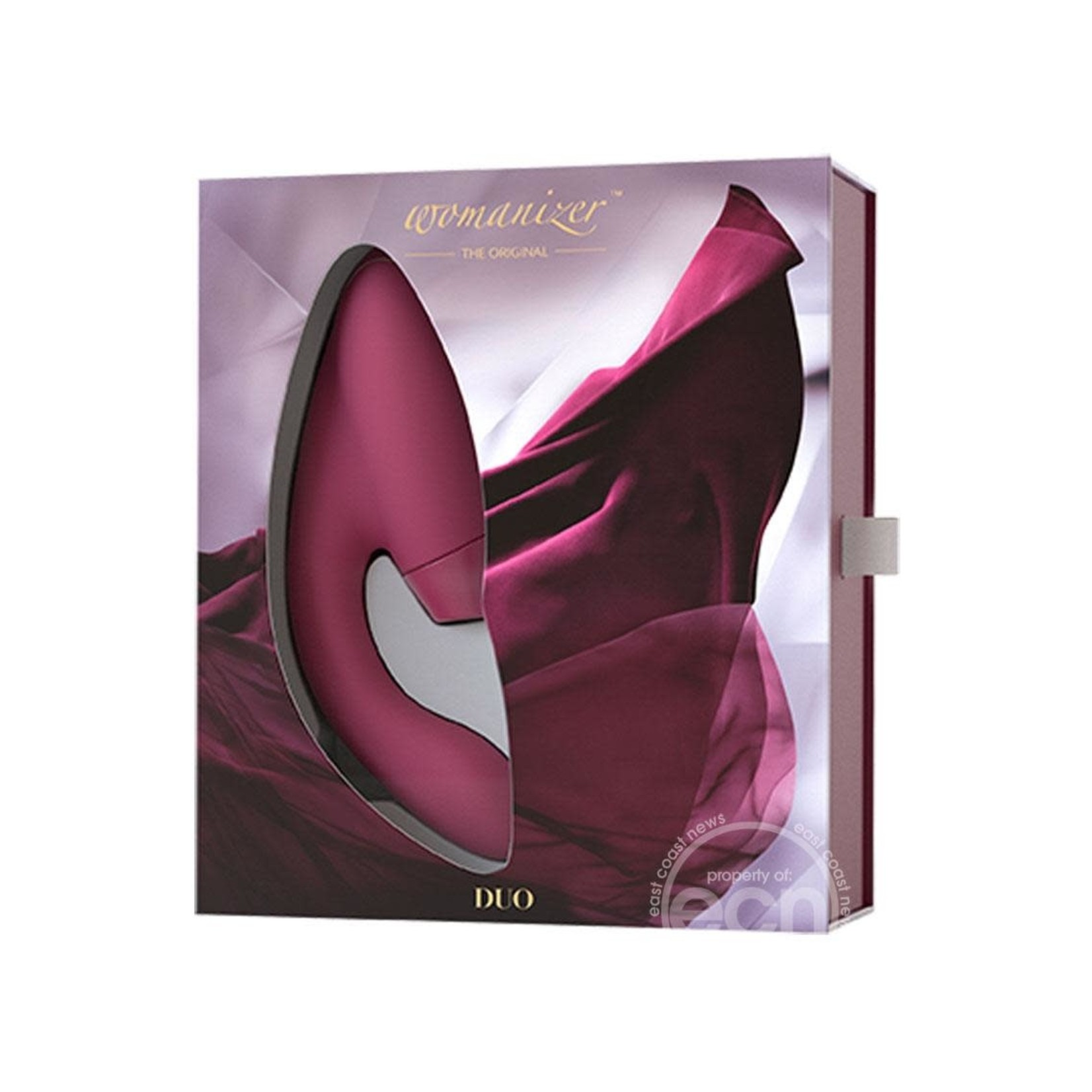 Womanizer Duo Silicone Rechargeable Clitoral And G-Spot Stimulator - Bordeaux