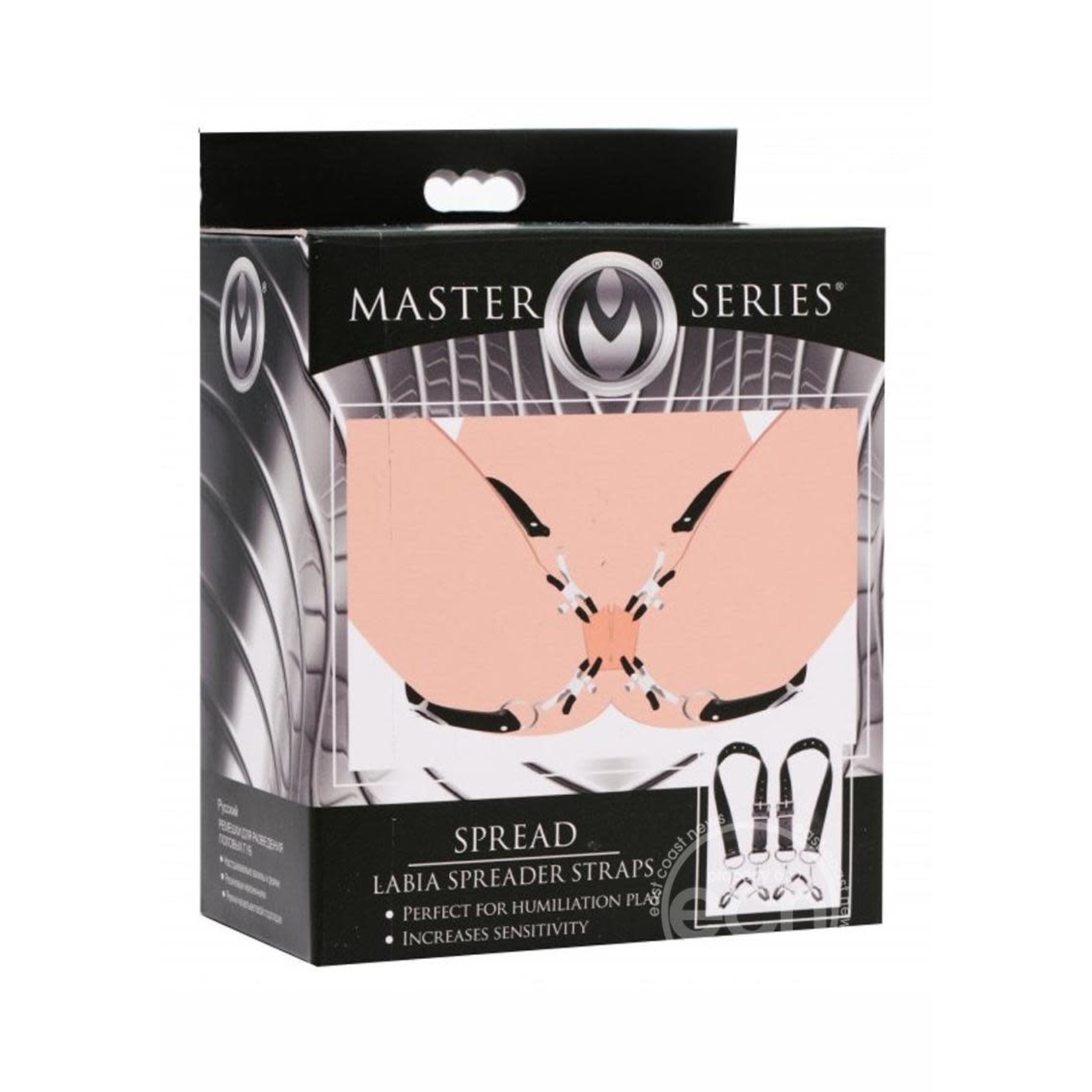 Master Series Spread Labia Spreader Straps with Clamps