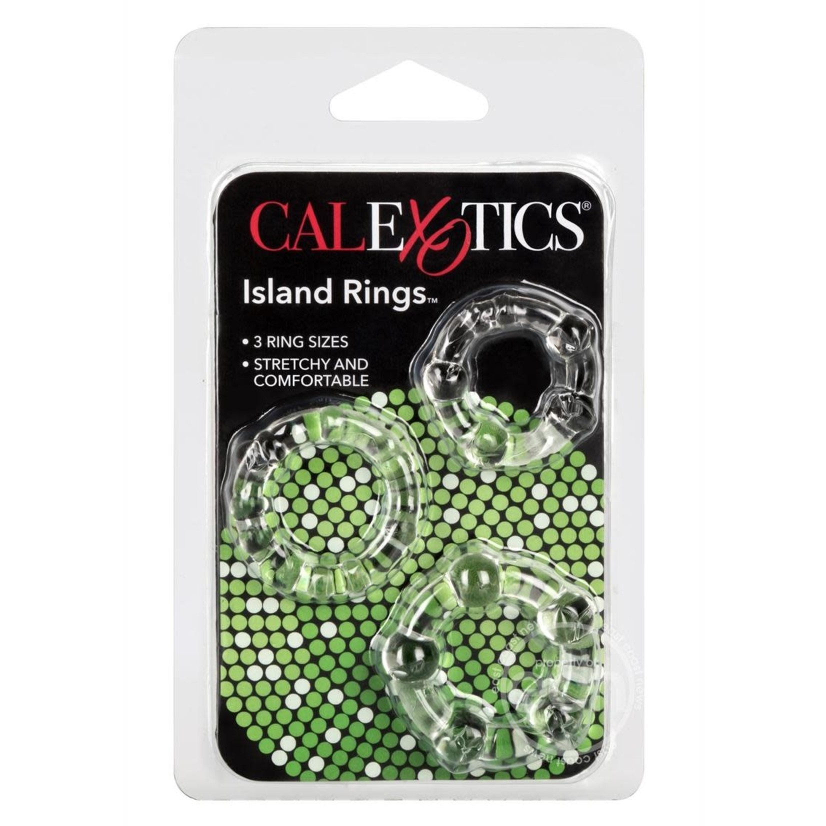 Island Rings Cock Rings (3 Piece Set) - Clear