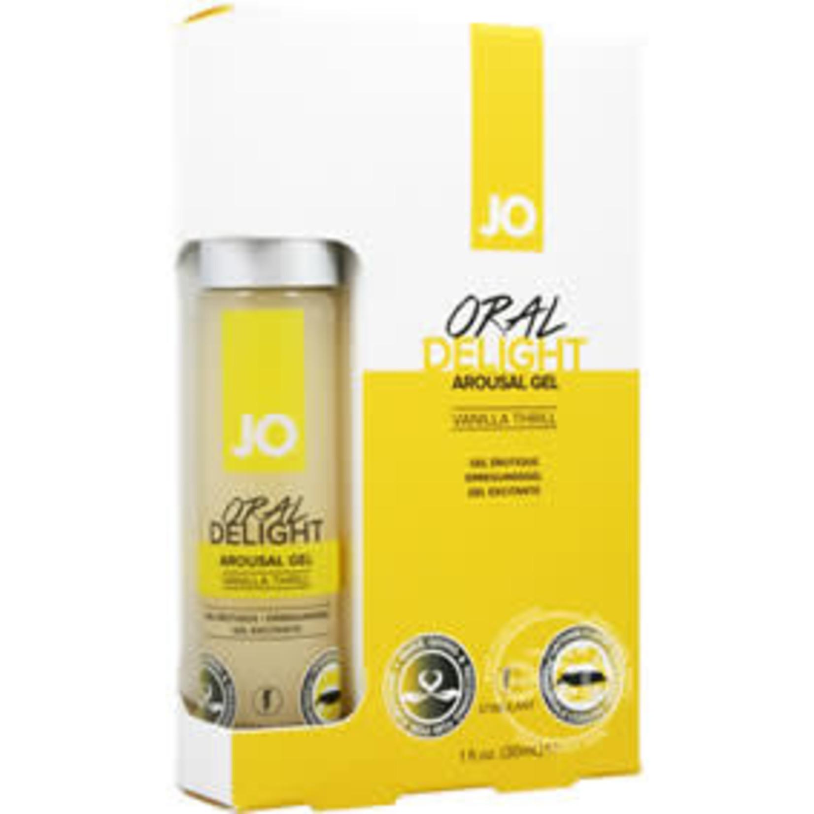 JO Oral Delight Flavored Arousal Gel Vanilla Thrill 1oz