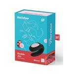 Satisfyer Double Joy Rechargeable Silicone Dual Stimulating Vibrator - Black
