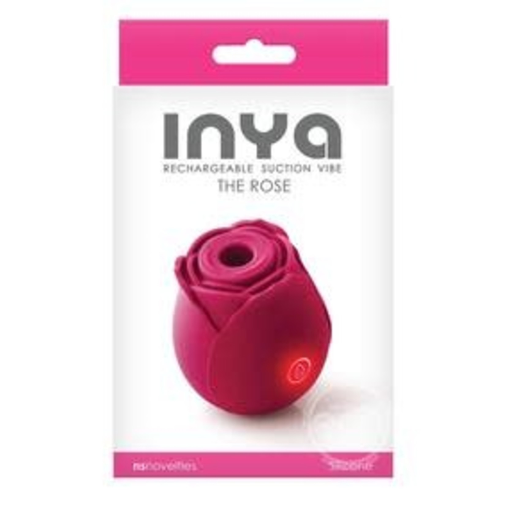 Inya The Rose Silicone Rechargeable Clitoral Stimulator - Pink