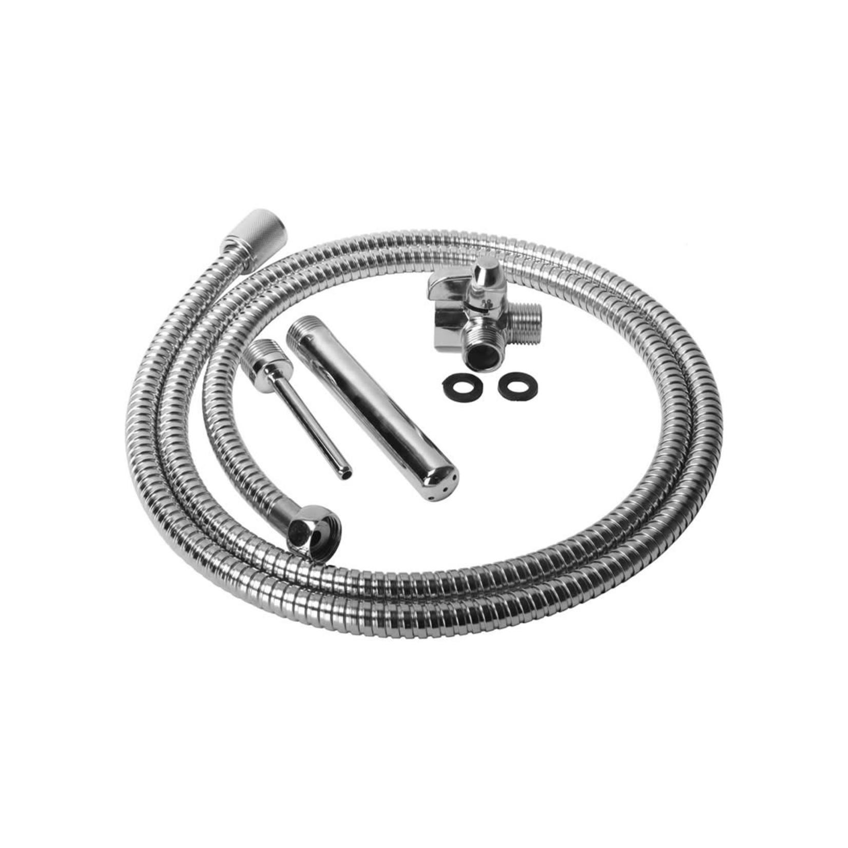 Cleanstream Shower Enema Set - Silver
