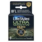 Lifestyles Condom Sensitive Bravo 3 Pack
