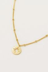 Estella Bartlett Estella B Starburst Disc Gold Necklace
