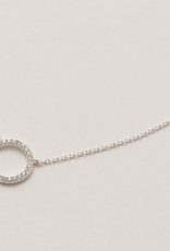 Estella Bartlett Estella B Large CZ Circle Silver Necklace