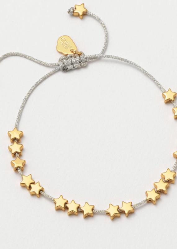 Estella Bartlett Estella B Gold Stars So Bright Silver Cord Bracelet