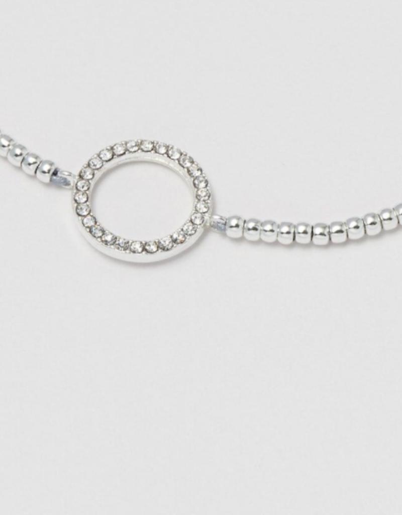 Estella Bartlett Estella B CZ Circle Louise Silver Bracelet
