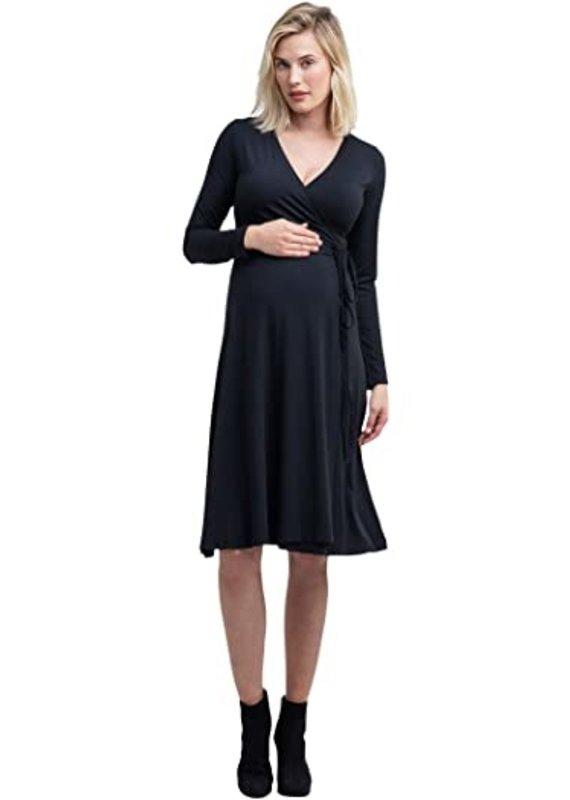 NOM Maternity NOM Tessa Wrap L/S Dress
