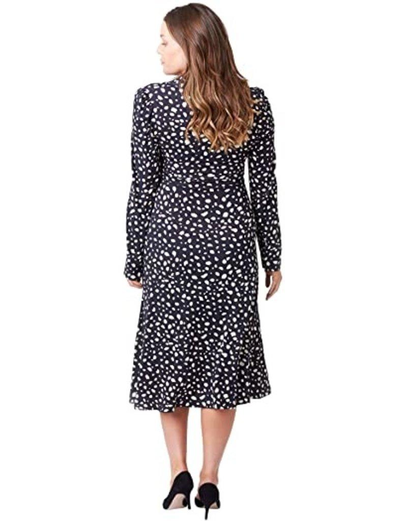 NOM Maternity NOM Naomi Abstract L/S Dress