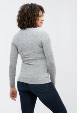 NOM Maternity NOM Claire Ruched L/S Sweater