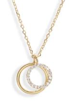 Estella Bartlett Estella B Double Circle Charm Gold Necklace