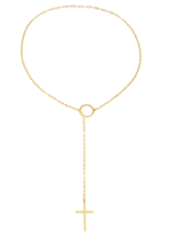 Victoria Six Victoria 6 Rect Link Cross Lariat Gold Neck