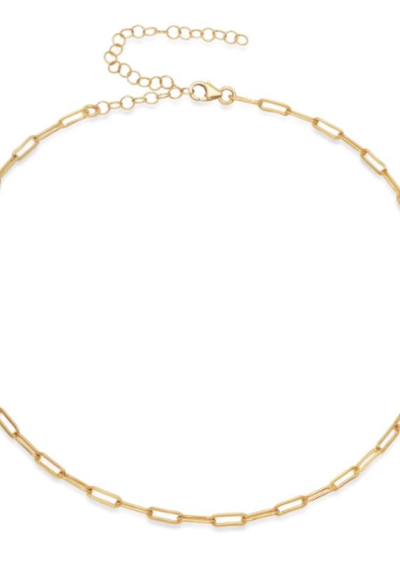 Victoria Six Victoria 6 Sm Rect Link Choker Gold Neck