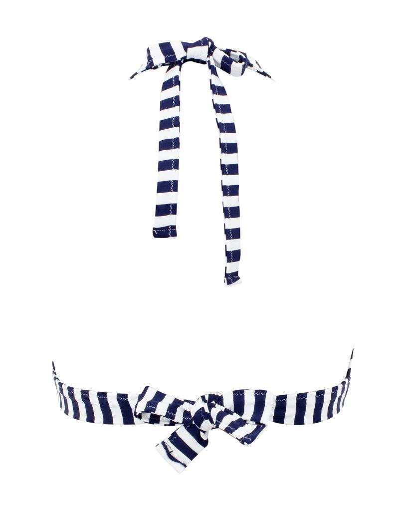 Pez D'Or Pez D'Or Isabella Halter Striped Top