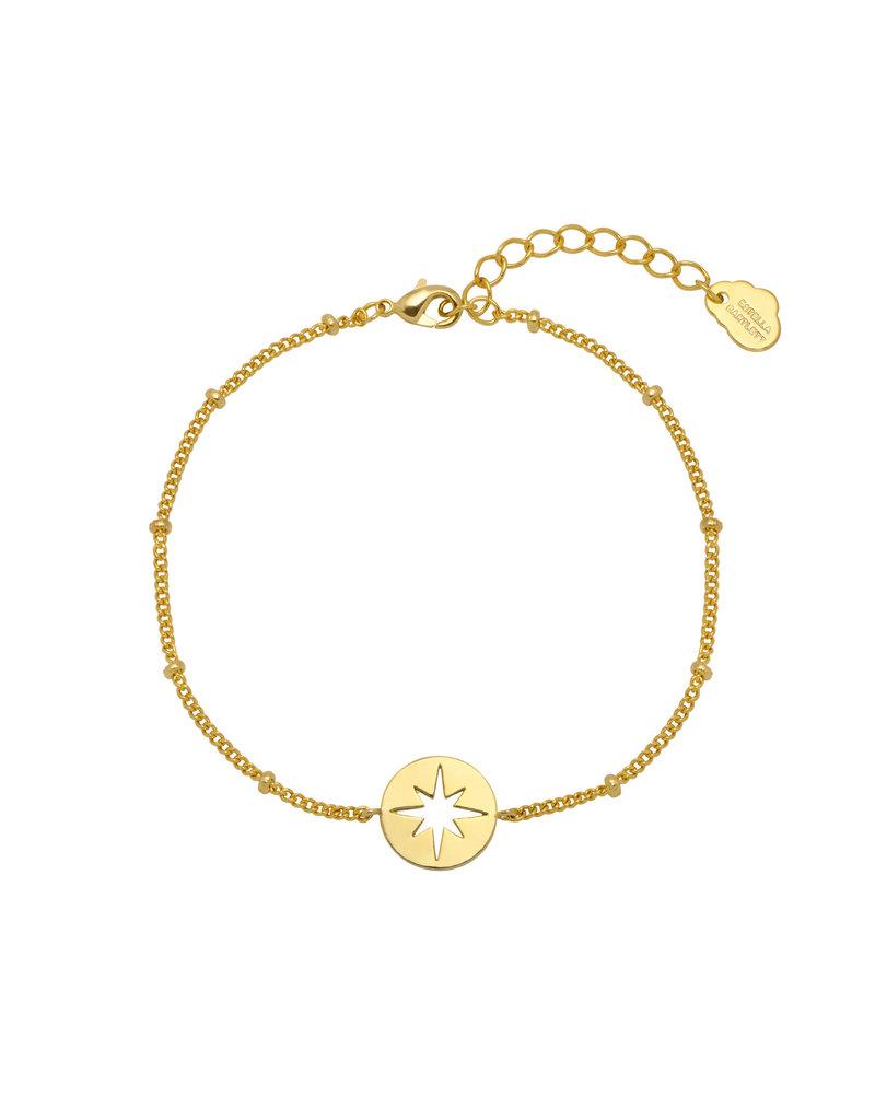 Estella Bartlett Estella B Starburst CZ Chain Gold Bracelet