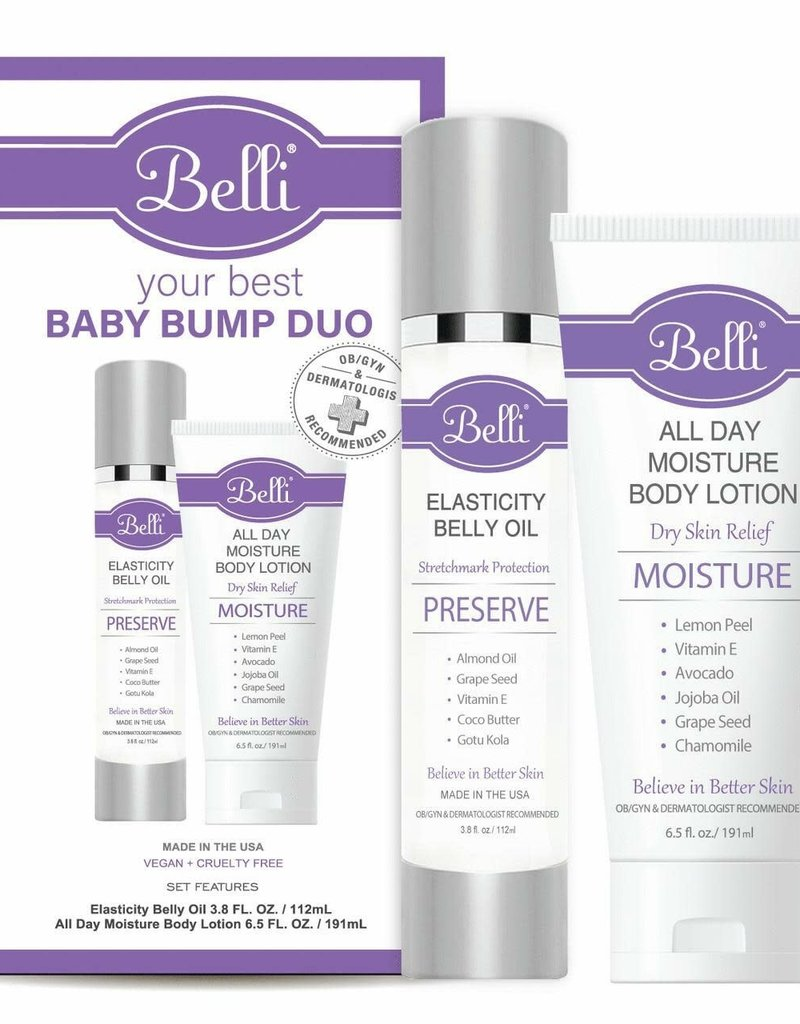 Belli Skincare Belli Your Best Baby Bump Duo Kit