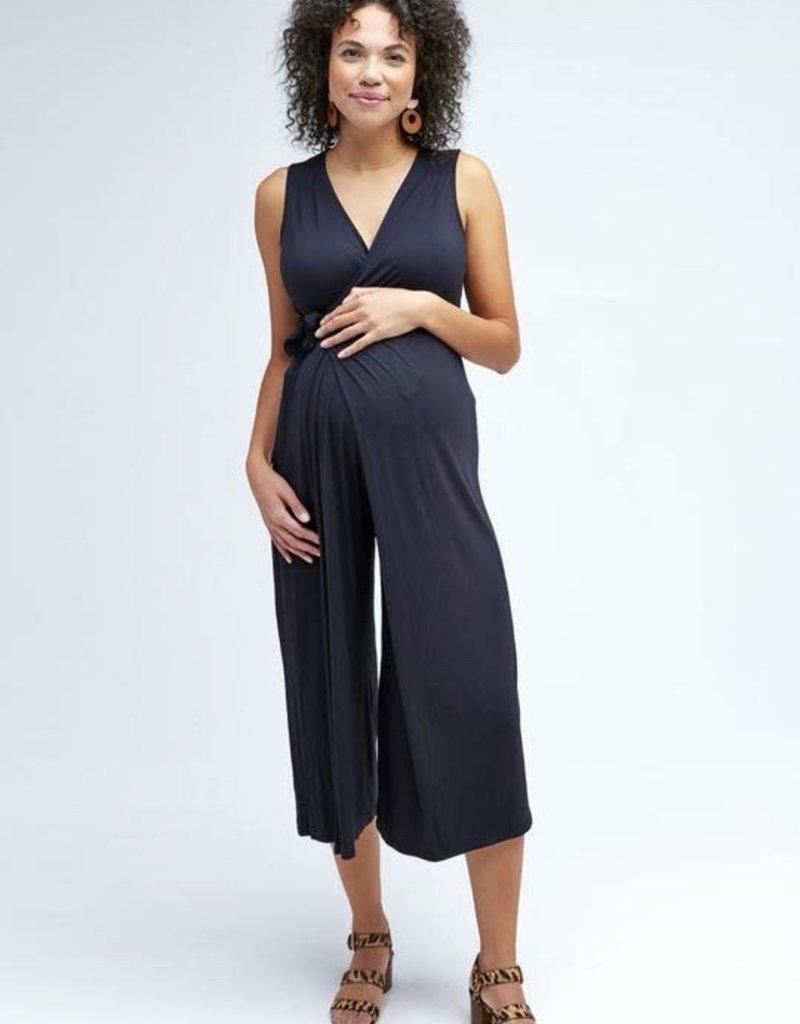 NOM Maternity NOM Francesca Wrap Tie Jumpsuit