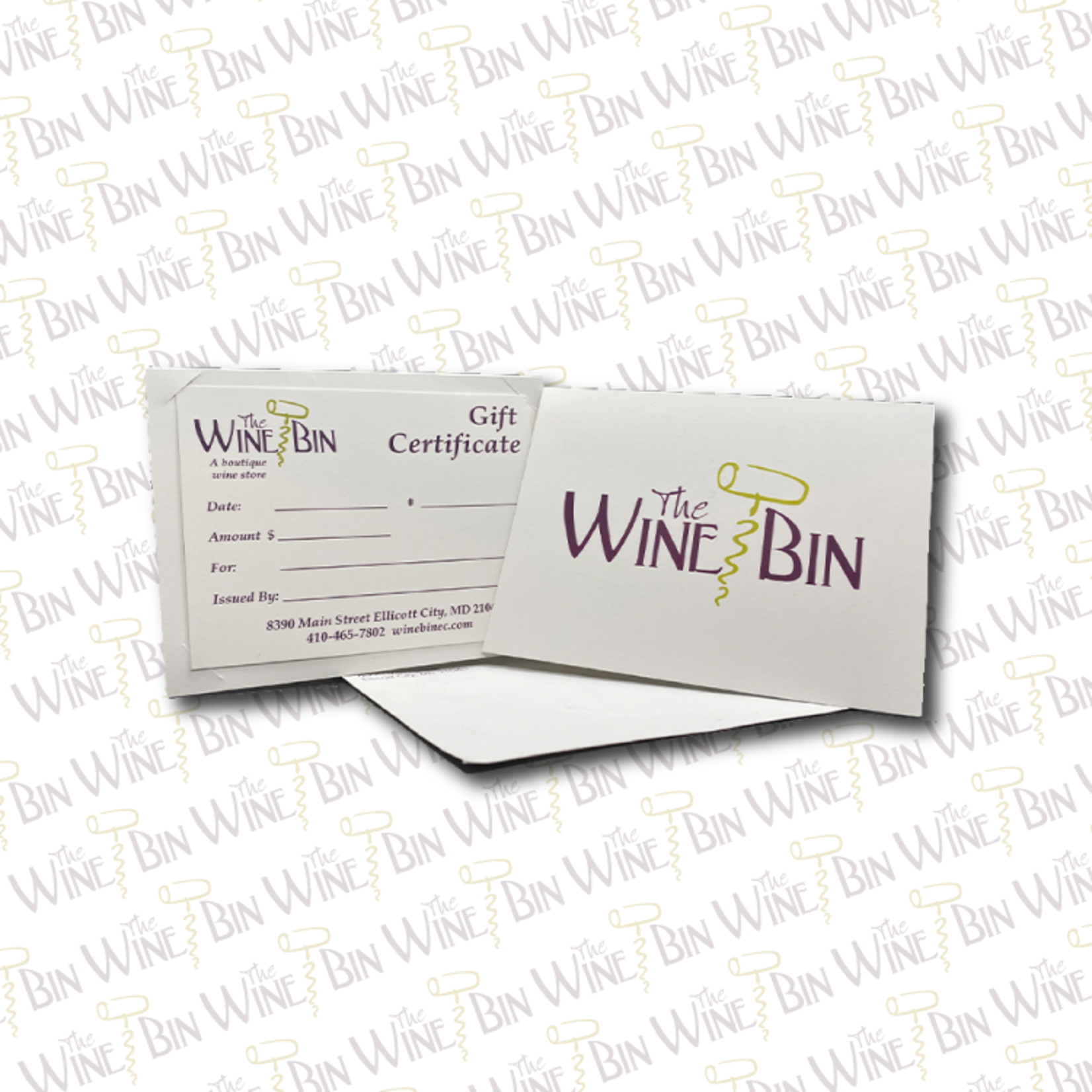 The Wine Bin The Wine Bin Gift Certificate