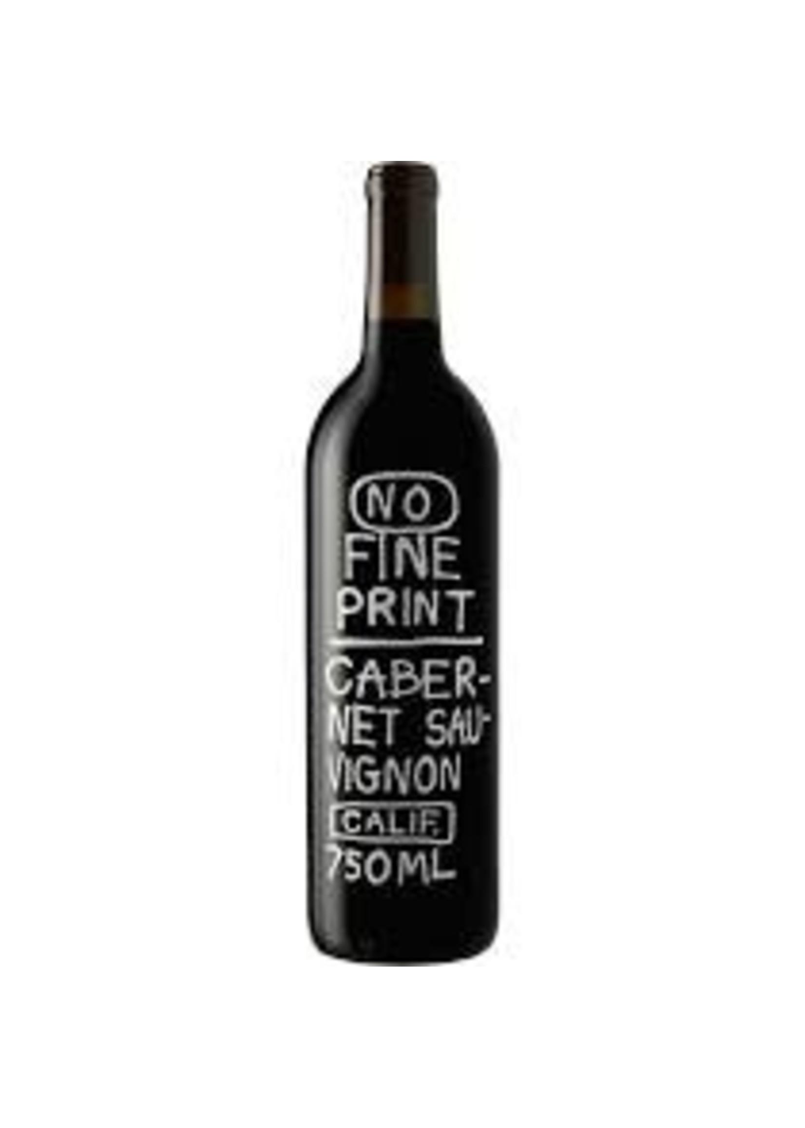 No Fine Print 2017 Cabernet Sauvignon 750ml