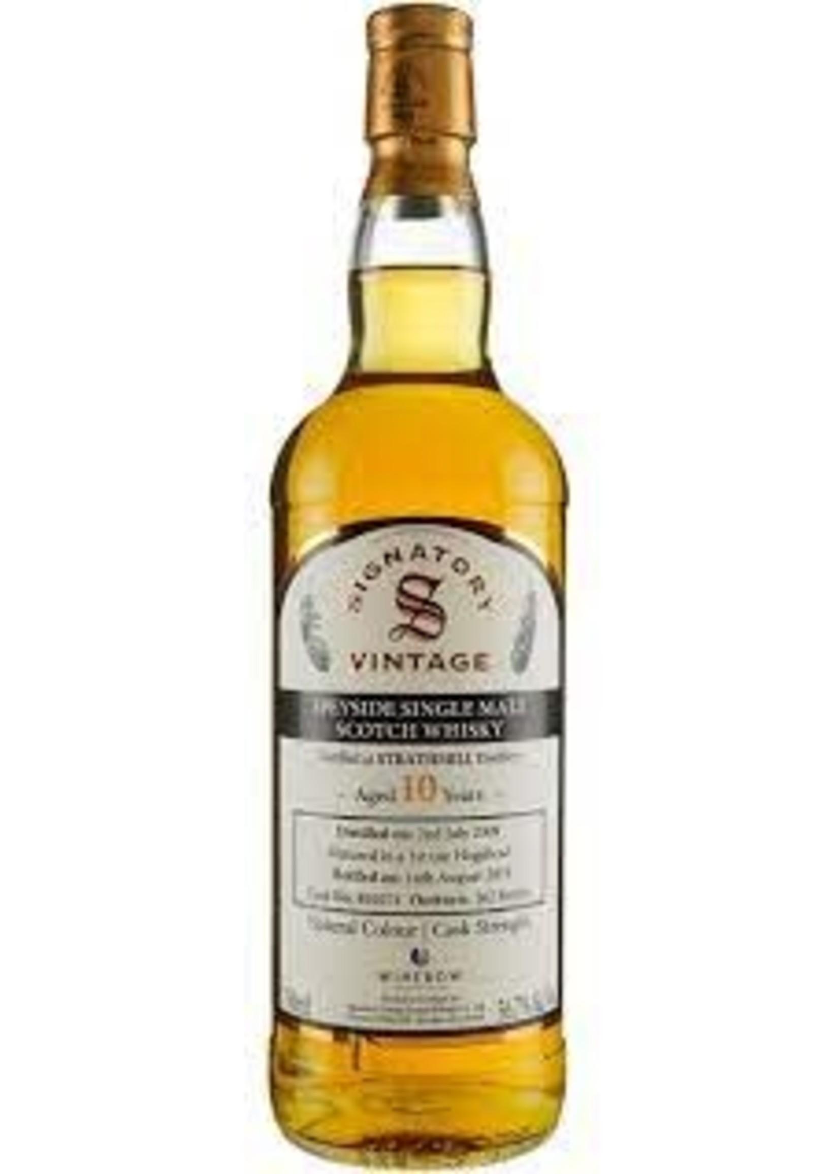 Signatory 2009 Strathmill 10 Yr Scotch 113.4 PF 750ml