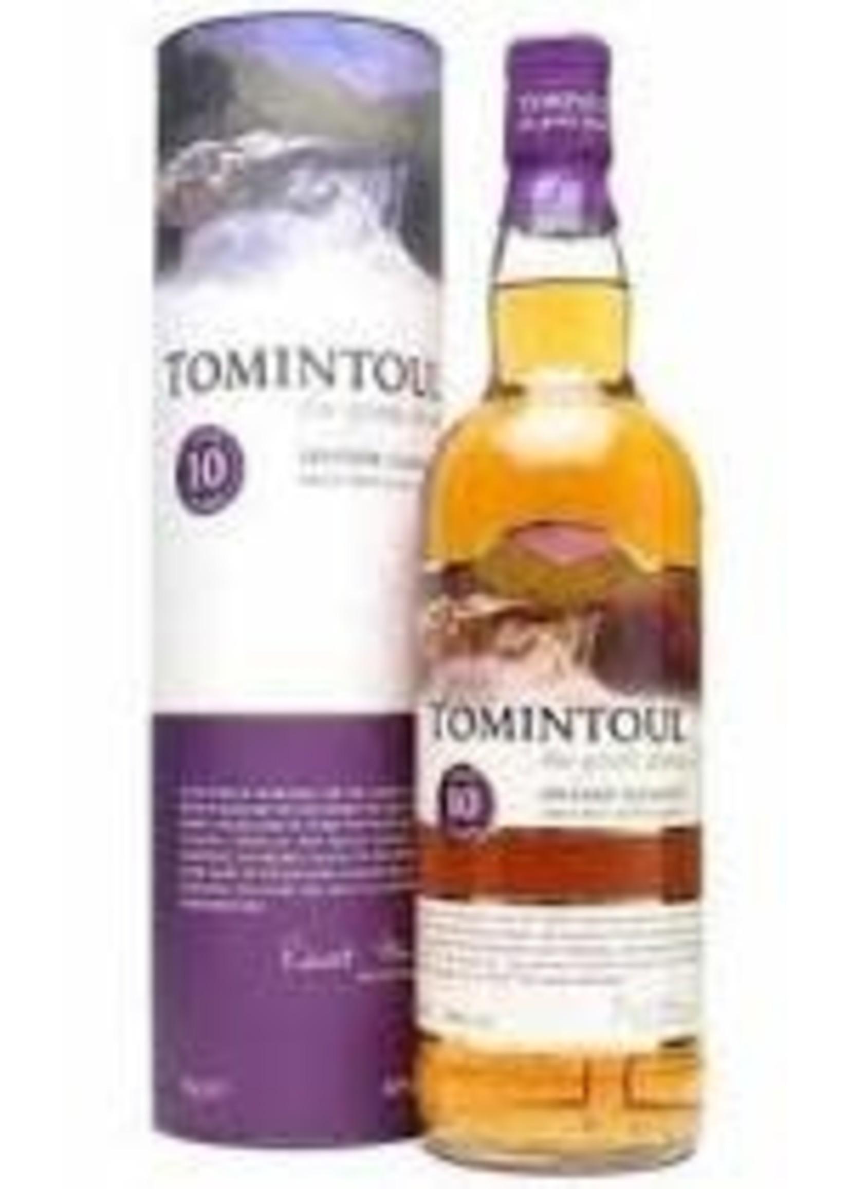 Tomintoul 10 Year Old Speyside Glenlivet Single Malt Scotch Whisky 750ml