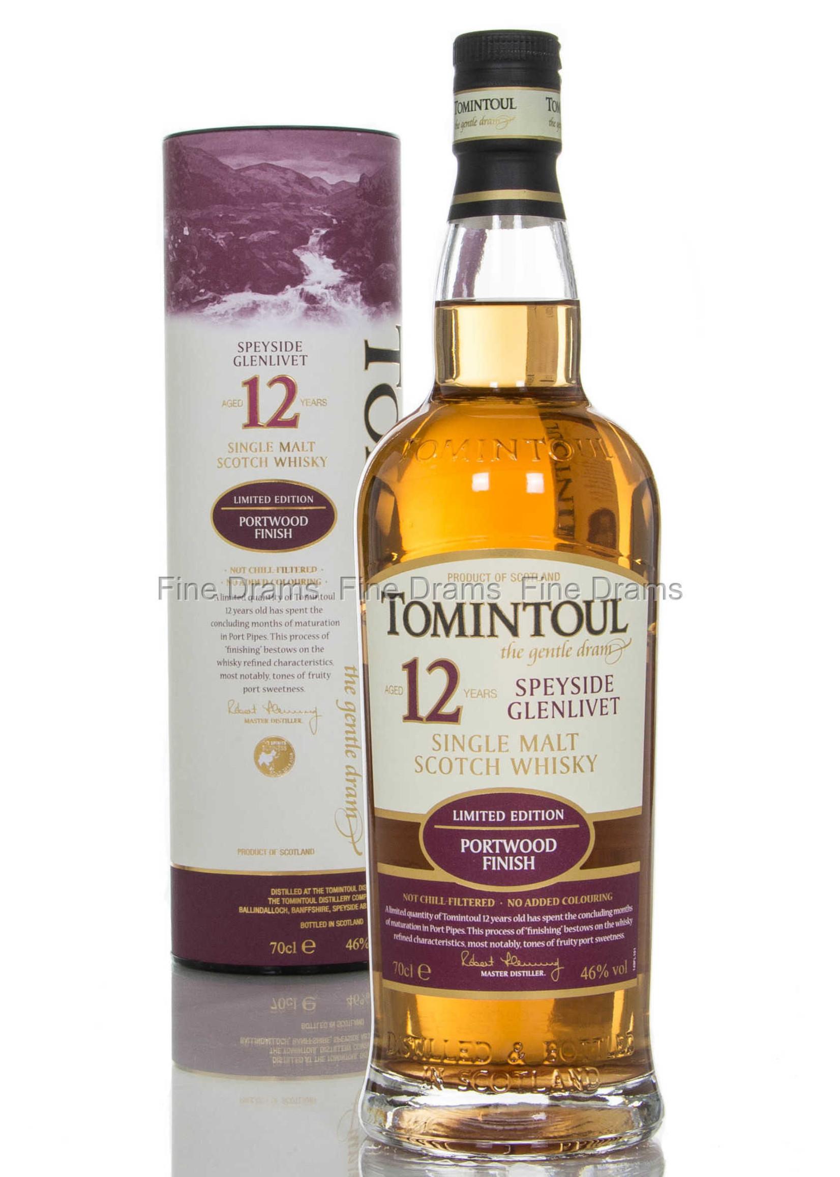 Tomintoul 12 Year Old Kedem Port Finish Single Malt Scotch Whisky 750ml