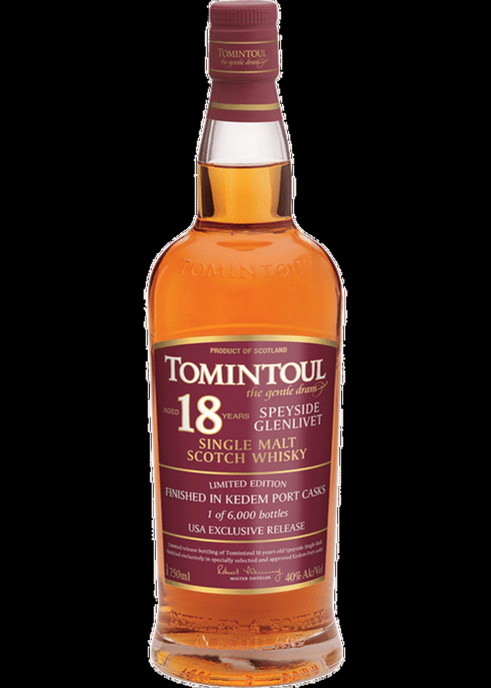 Tomintoul 18 Year Old Kedem Port Finish Single Malt Scotch Whisky 750ml