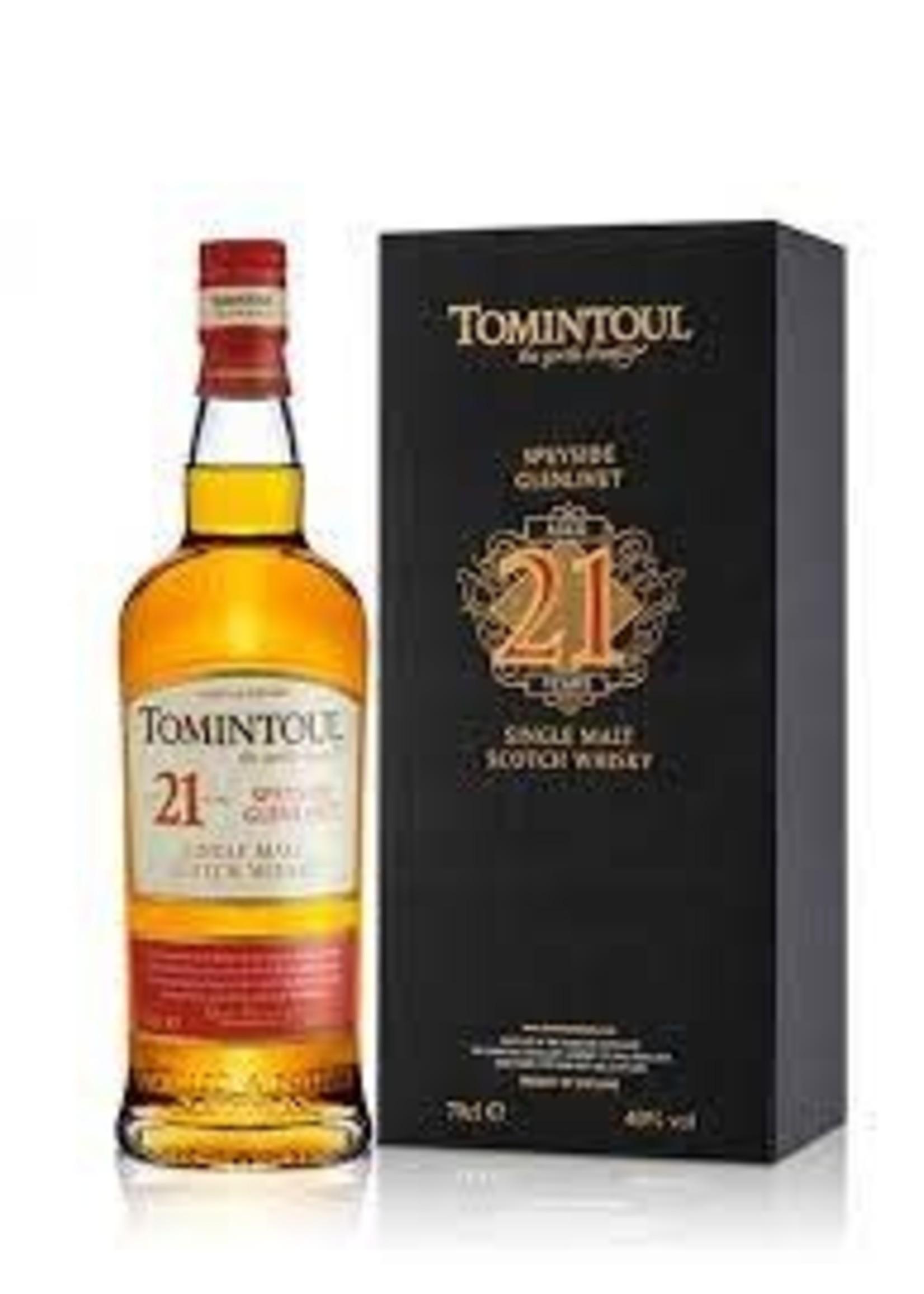 Tomintoul 21 Year Old Speyside Glenlivet Single Malt Scotch Whisky 750ml
