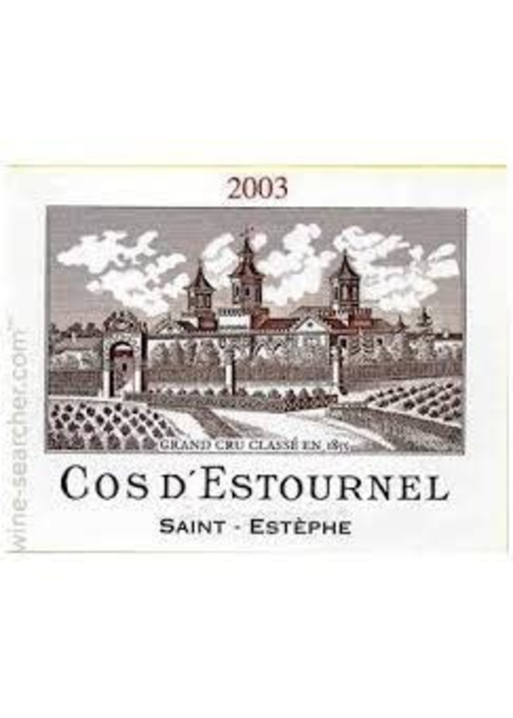 Chateau Cos d'Estournel 2003 St. Estephe 1.5L [PRE-ARRIVAL]