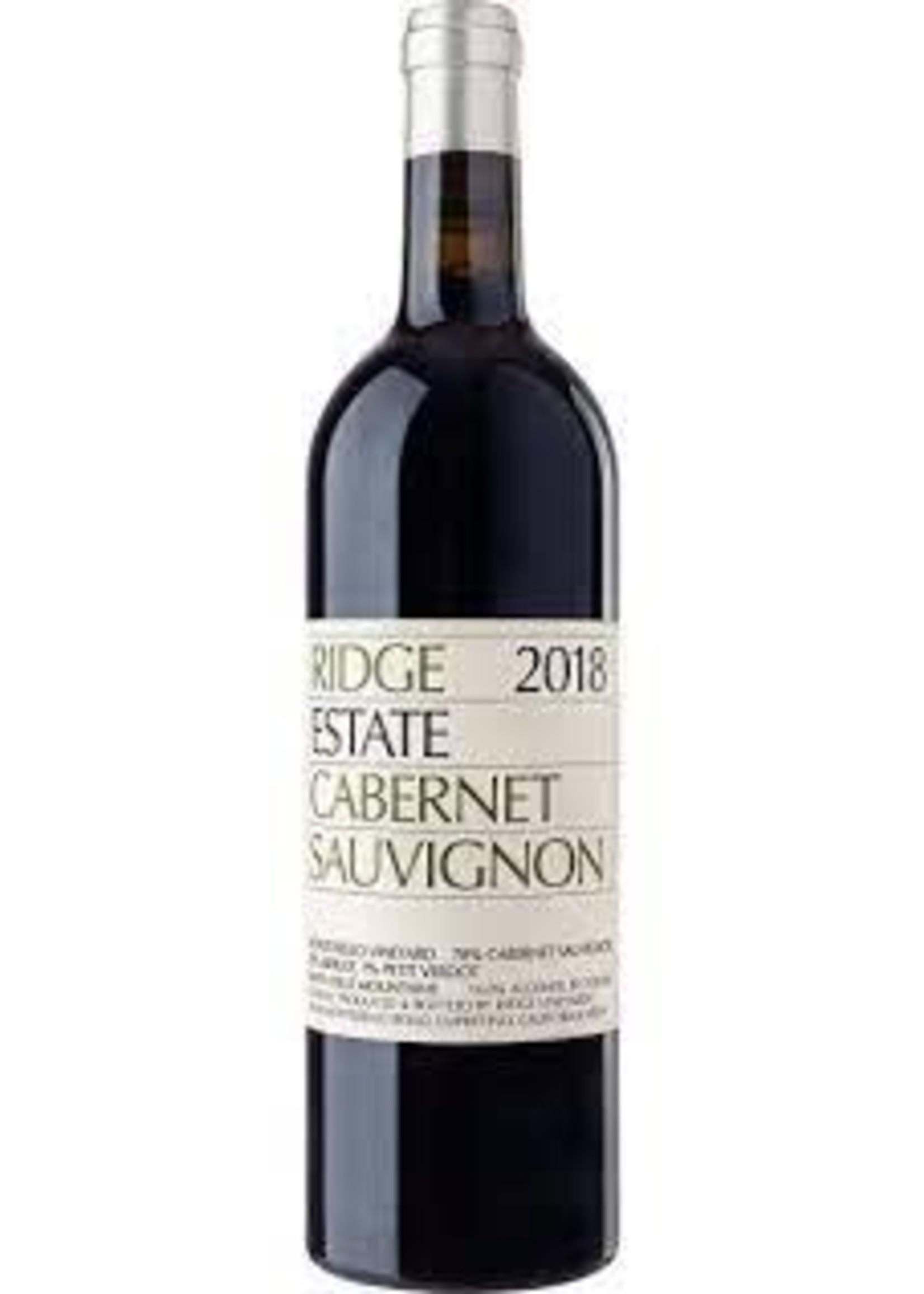 Ridge 2018 'Estate' Cabernet Sauvignon 750ml
