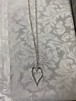 NECK SILVER CHAIN LINK WITH HEART