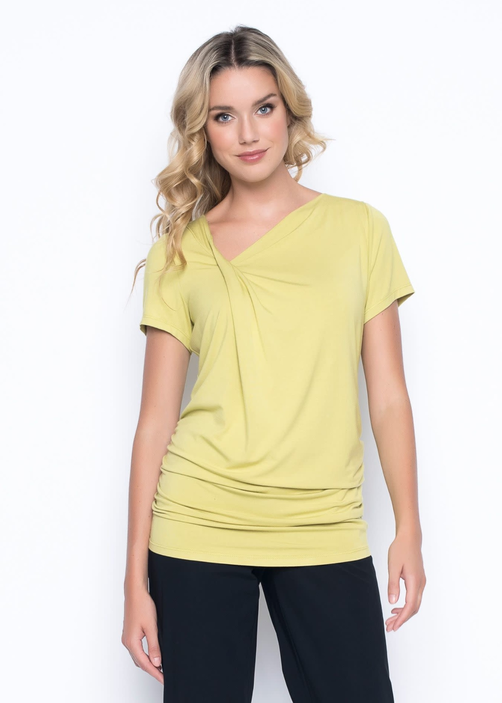 PICADILLY Style MR294 side ruched asym top