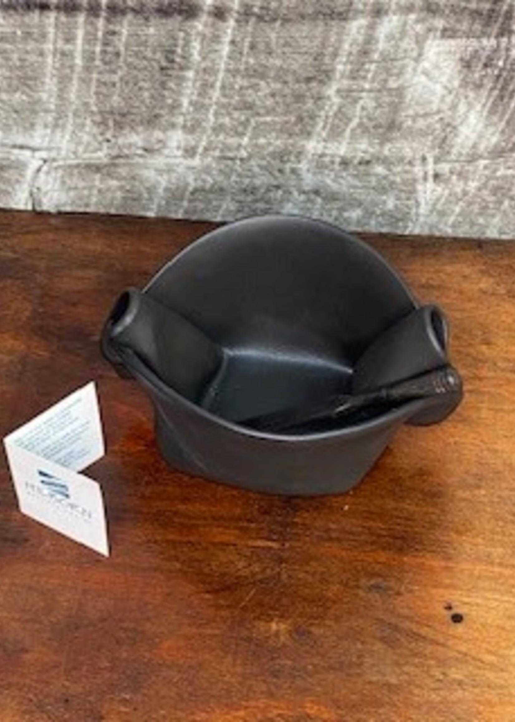 Hilborn Pottery pinch pot brown