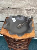 Hilborn Pottery platter brown