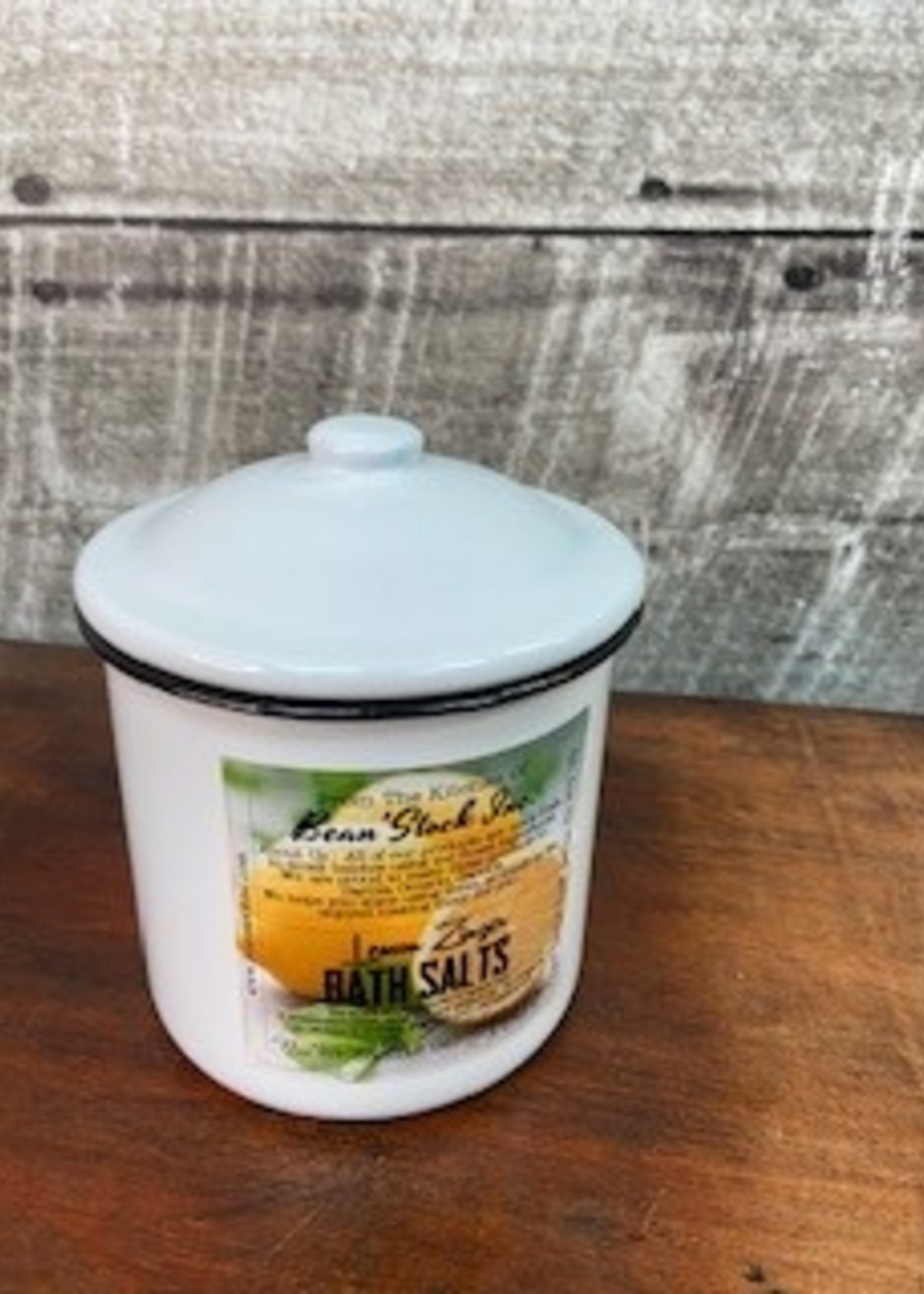 Bean stock Bath Salts in Enamelware - Lemon Zinger