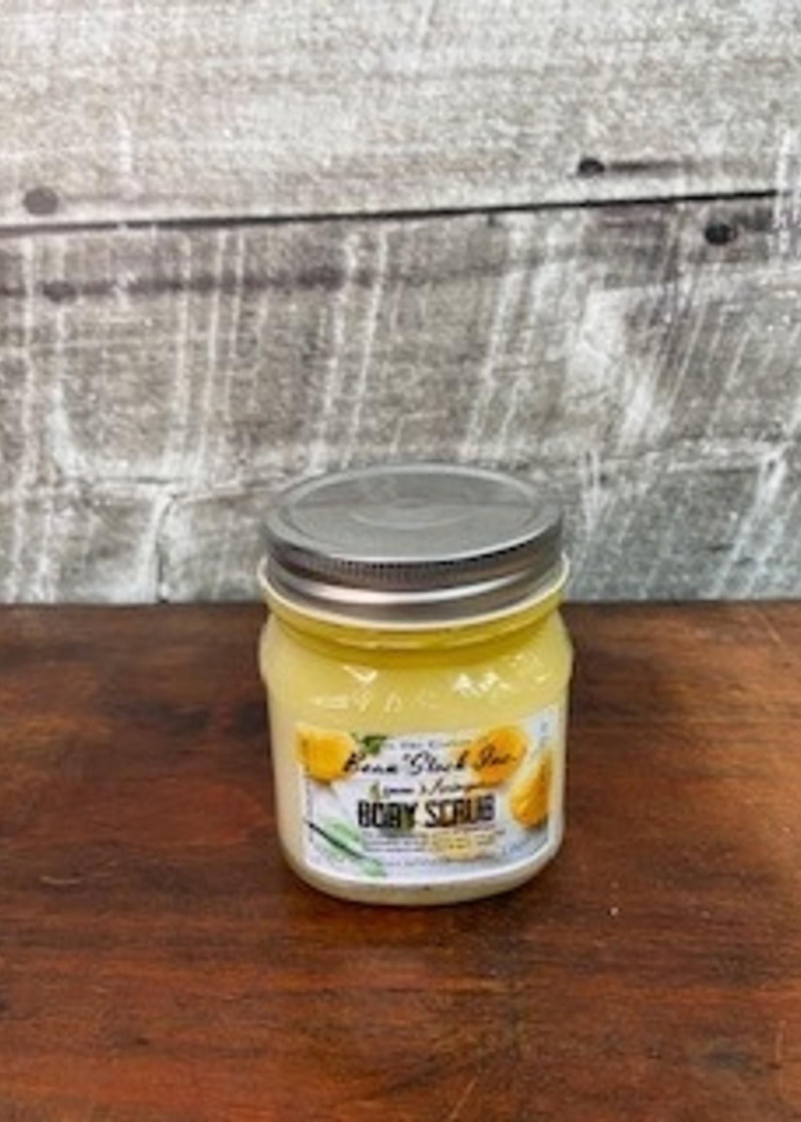 Bean stock Mason Jar Body Scrub Lemon Meringue