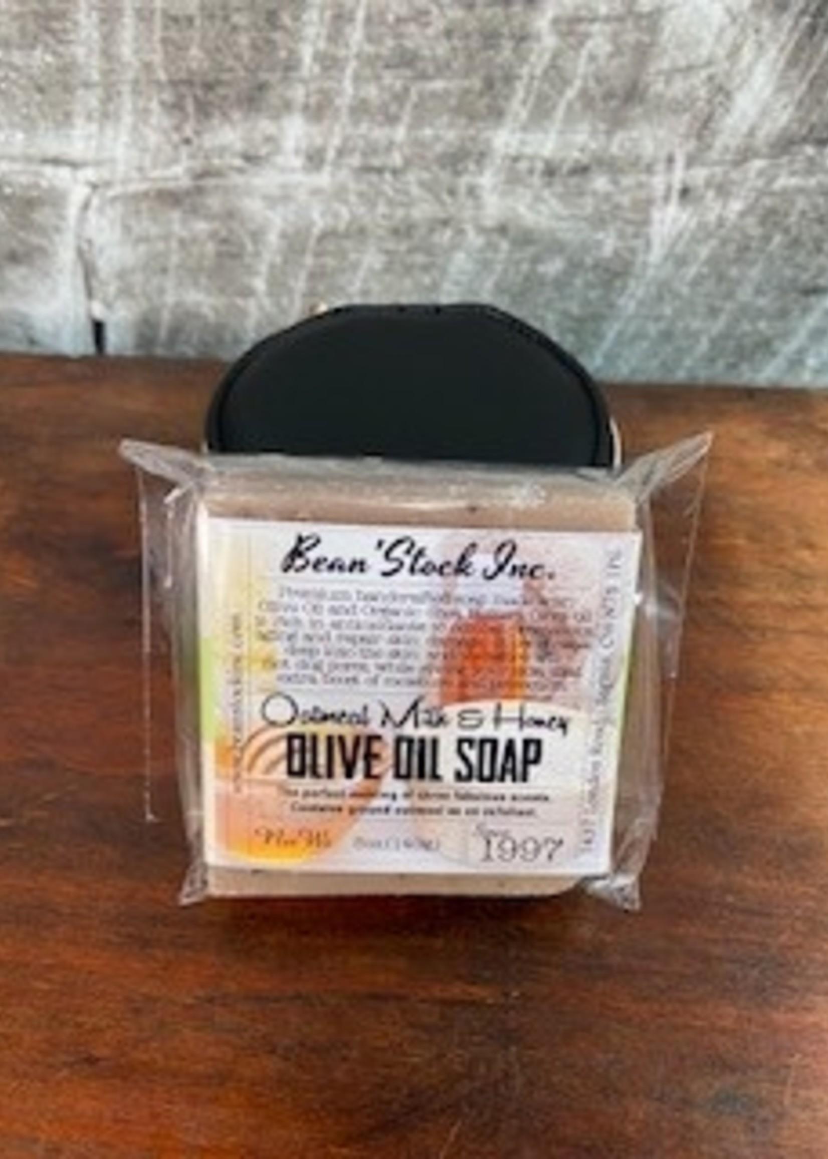 Bean stock Olive Oil Soap   Bar - Oatmeal Milk & Honey