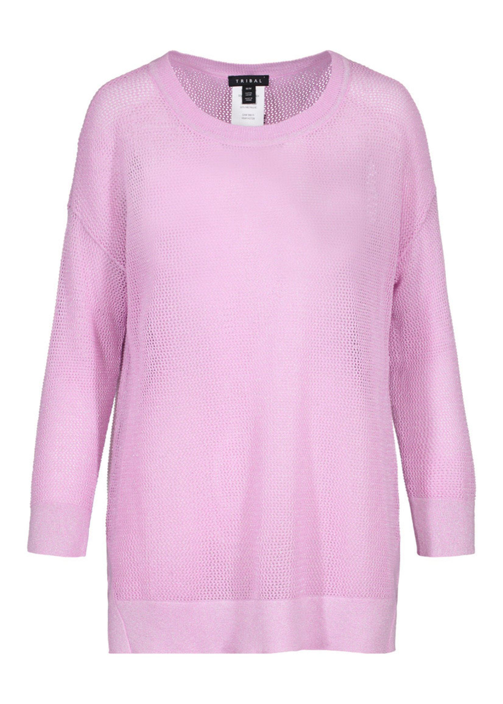 Tribal 36830 2924 3/4 Sleeve Lurex Sweater