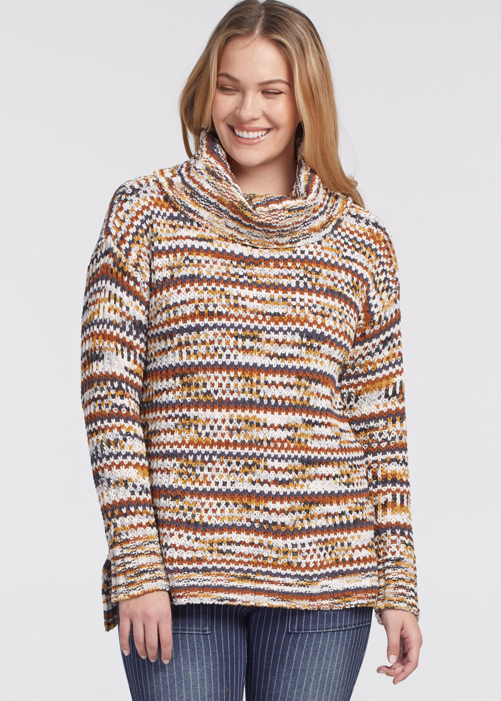 Tribal Long Sleeve Cowl Neck Sweater 47770/3412